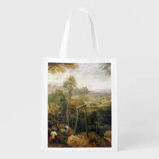 Urraca en la horca de Pieter Bruegel Bolsas De La Compra