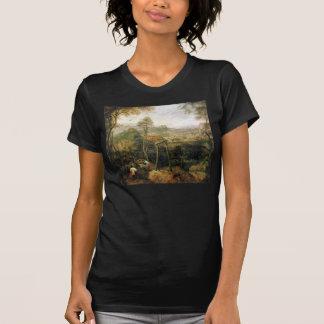 Urraca en la horca de Pieter Bruegel Camisetas