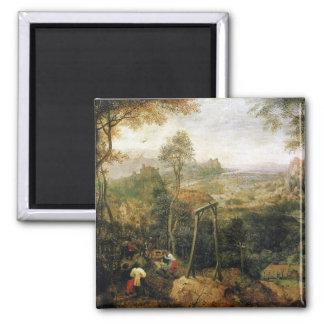Urraca en la horca de Pieter Bruegel Imán