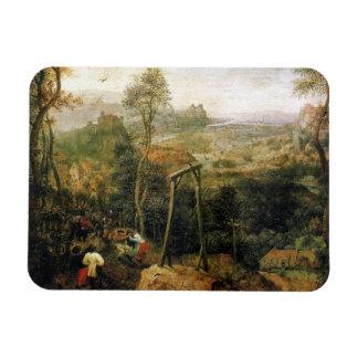 Urraca en la horca de Pieter Bruegel Imán Flexible