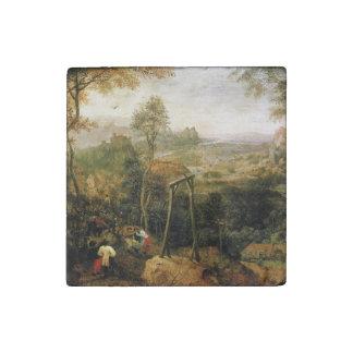 Urraca en la horca de Pieter Bruegel Imán De Piedra