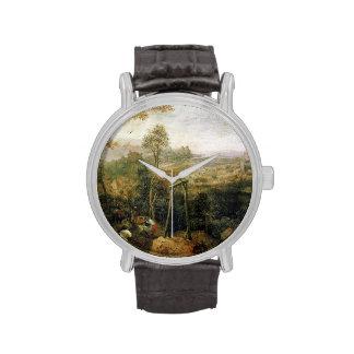 Urraca en la horca de Pieter Bruegel Relojes De Mano