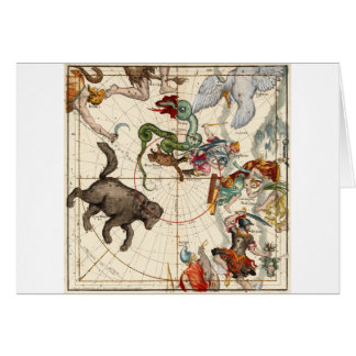 Ursa Major, Perseus, Hercules, Cassiopea,Andromeda Card