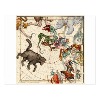 Ursa Major, Perseus, Hercules, Cassiopea,Andromeda Postcard