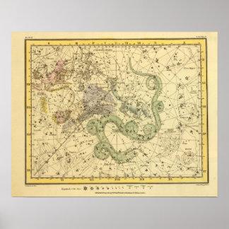 Ursa Minor, Cassiopeia, Tarandus, Cepheus Poster