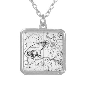 Ursa Minor Silver Plated Necklace