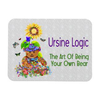 Ursine Logic Bear Rectangle Magnet