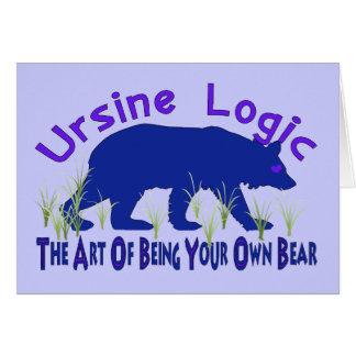 Ursine Logic Swag Logo Card