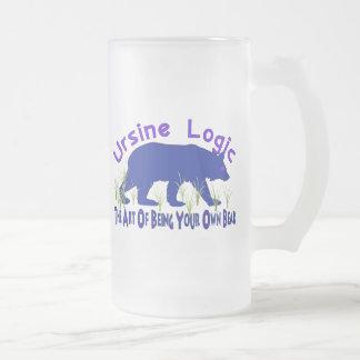 Ursine Logic Swag Logo Frosted Glass Beer Mug