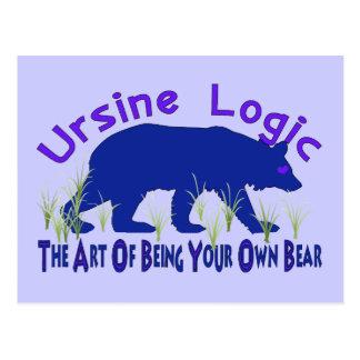 Ursine Logic Swag Logo Postcard