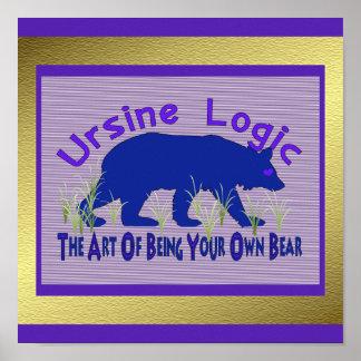 Ursine Logic Swag Logo Print
