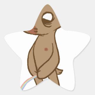 Urso Uço Pegatina En Forma De Estrella