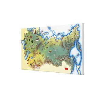 URSS, mapa de la unión del socialista soviético Impresión De Lienzo