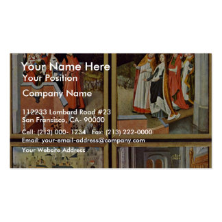 Ursula Altar Right Wing: Scenes From The Life Of S Double-Sided Standard Business Cards (Pack Of 100)