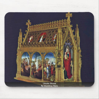 Ursula Shrine By Memling Hans Mouse Pad