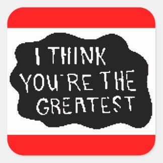 urthegreatest square stickers