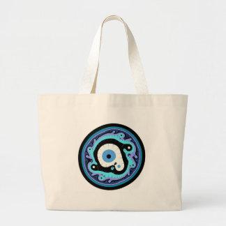 Uru Native Fractal - Blue Canvas Bags