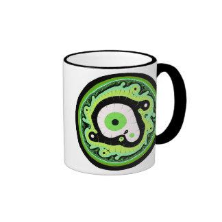 Uru Native Fractal - Green Coffee Mugs