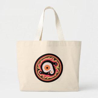 Uru Native Fractal - Red Canvas Bags