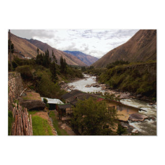 "Urubamba River Valley sagrado Cusco Perú Invitación 5"" X 7"""