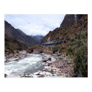 Urubamba River Valley Train Cusco Peru Postcard