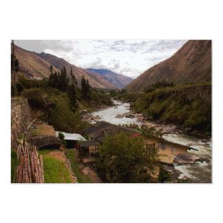 Urubamba Sacred River Valley Cusco Peru Card