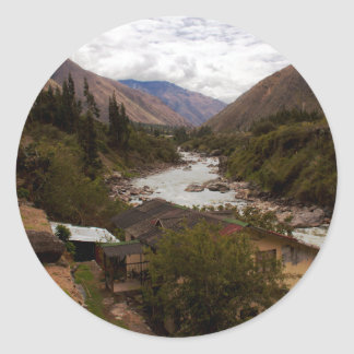 Urubamba Sacred River Valley Cusco Peru Classic Round Sticker