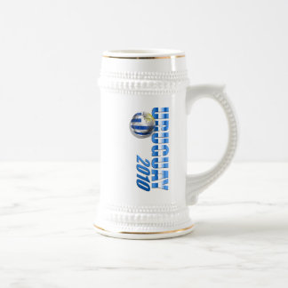 Uruguay 2010 Logo Soccer Futbol Celeste gifts Beer Stein