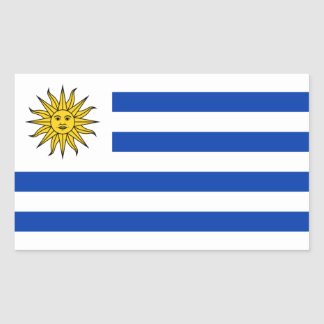 Uruguay/bandera uruguaya pegatina rectangular