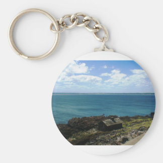 Uruguay Cabin by the Sea Basic Round Button Keychain