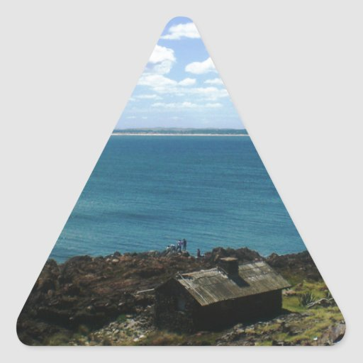 Uruguay cabin by the sea triangle sticker zazzle for Cabin by the sea
