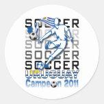 Uruguay campeon de la copa etiqueta redonda