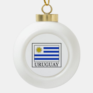 Uruguay Ceramic Ball Christmas Ornament