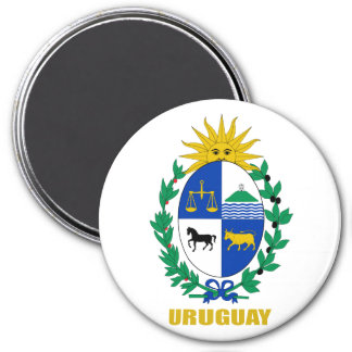 Uruguay Coat of Arms 3 Inch Round Magnet