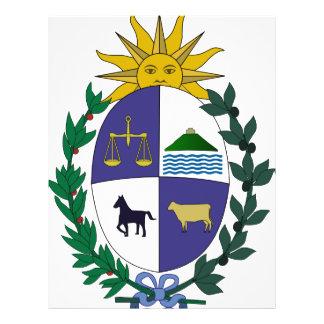 Uruguay coat of arms flyer