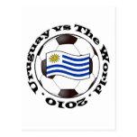 Uruguay contra el mundo tarjetas postales