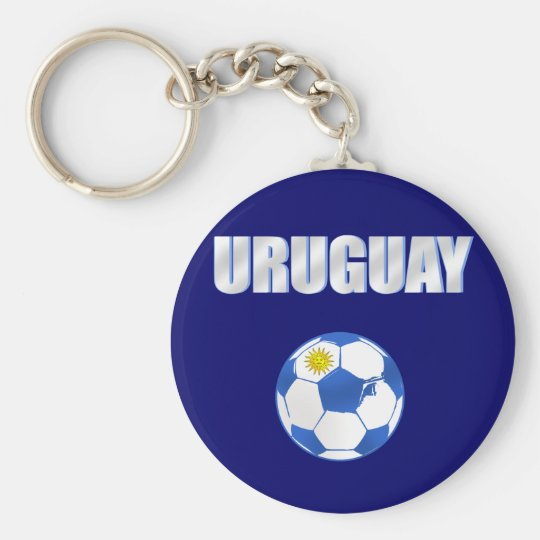 Uruguay cool ball futbol fans La Celeste love Keychain