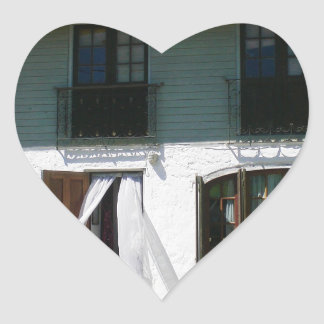 Uruguay Cottage Front Heart Sticker