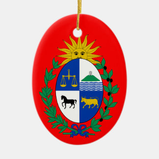 URUGUAY* Custom Ceramic Christmas Ornament