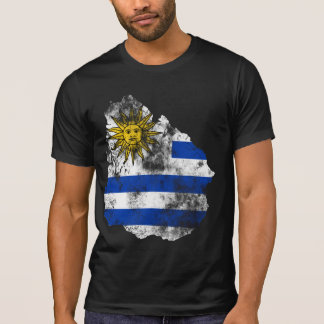 Uruguay Distressed Flag T-Shirt