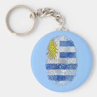 Uruguay DNA fingerprint Uruguayan flag pride Key Chain