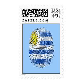 Uruguay DNA fingerprint Uruguayan flag pride Stamp