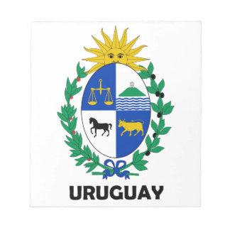 URUGUAY - emblem flag coat of arms symbol Note Pad