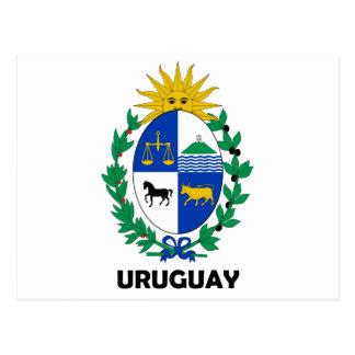 URUGUAY - emblem / flag / coat of arms / symbol Postcard