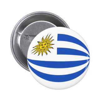 Uruguay Fisheye Flag Button