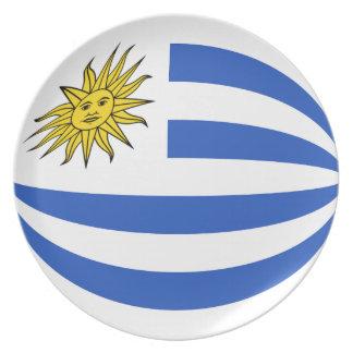 Uruguay Fisheye Flag Plate
