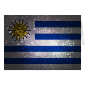 Uruguay Flag Firework Card