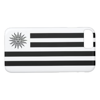 Uruguay Flag In Black And White iPhone 7 Case