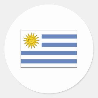 Uruguay FLAG International Classic Round Sticker