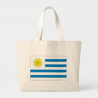 Uruguay Flag Large Tote Bag